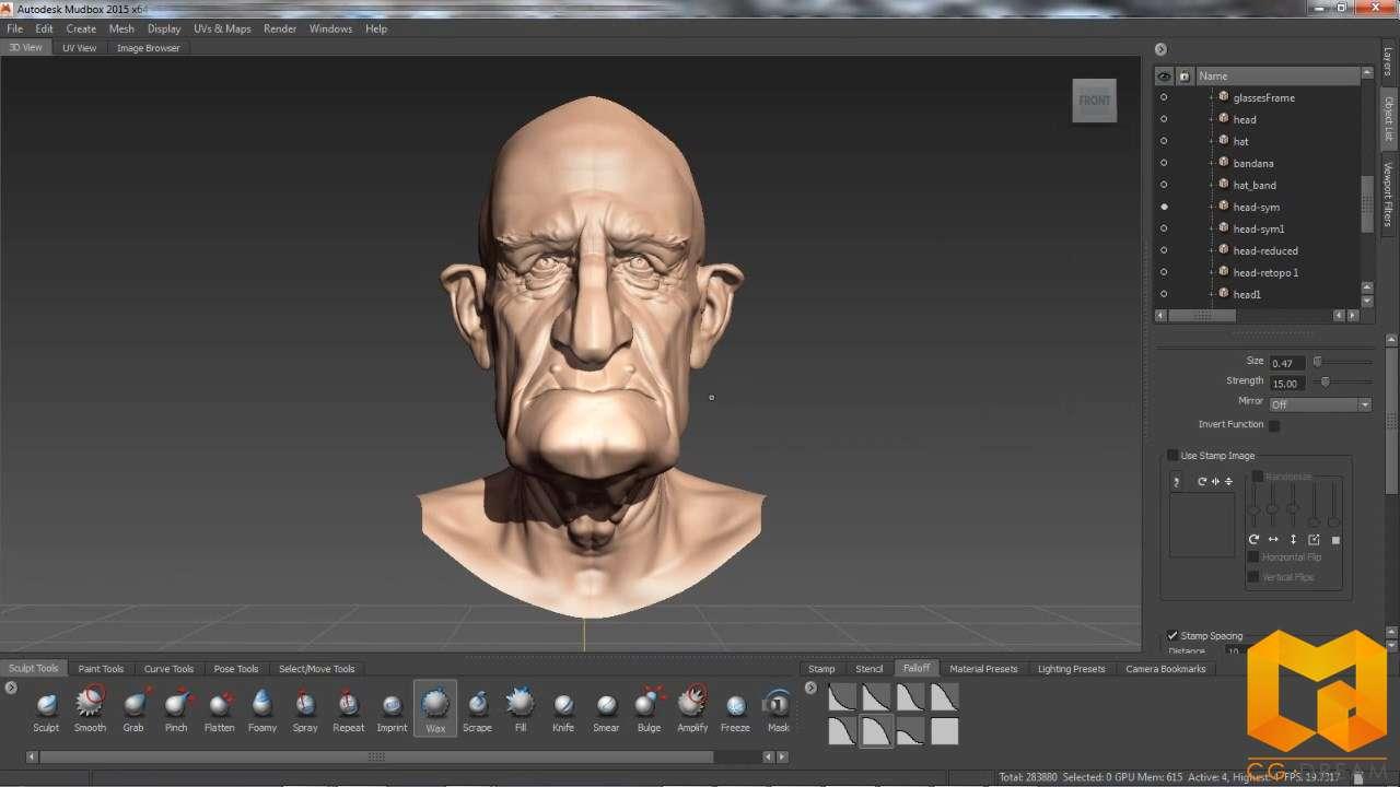 动画视频教程 Mudbox 2015 新功能概述视频教程 Mudbox 2015