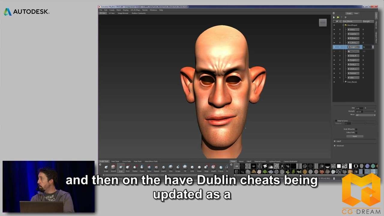 影视动画视频教程 Autodesk Mudbox 2015提示和技巧教程 http www.