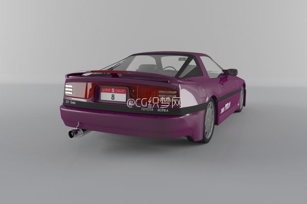 交通 1990老式丰田汽车3D模型下载 Toyota supra Turbo a 1990 3d 高清图片
