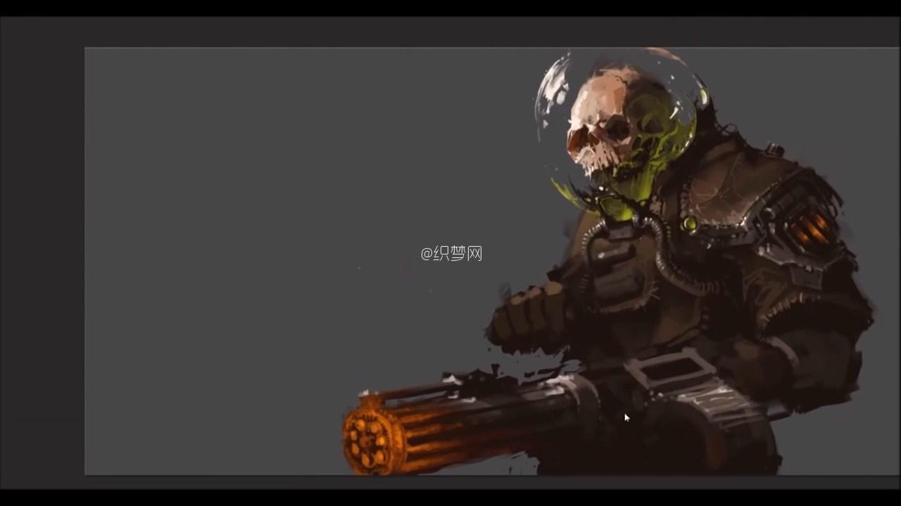 设计绘画视频教程 PS数字绘画 世界末日之骷髅士兵