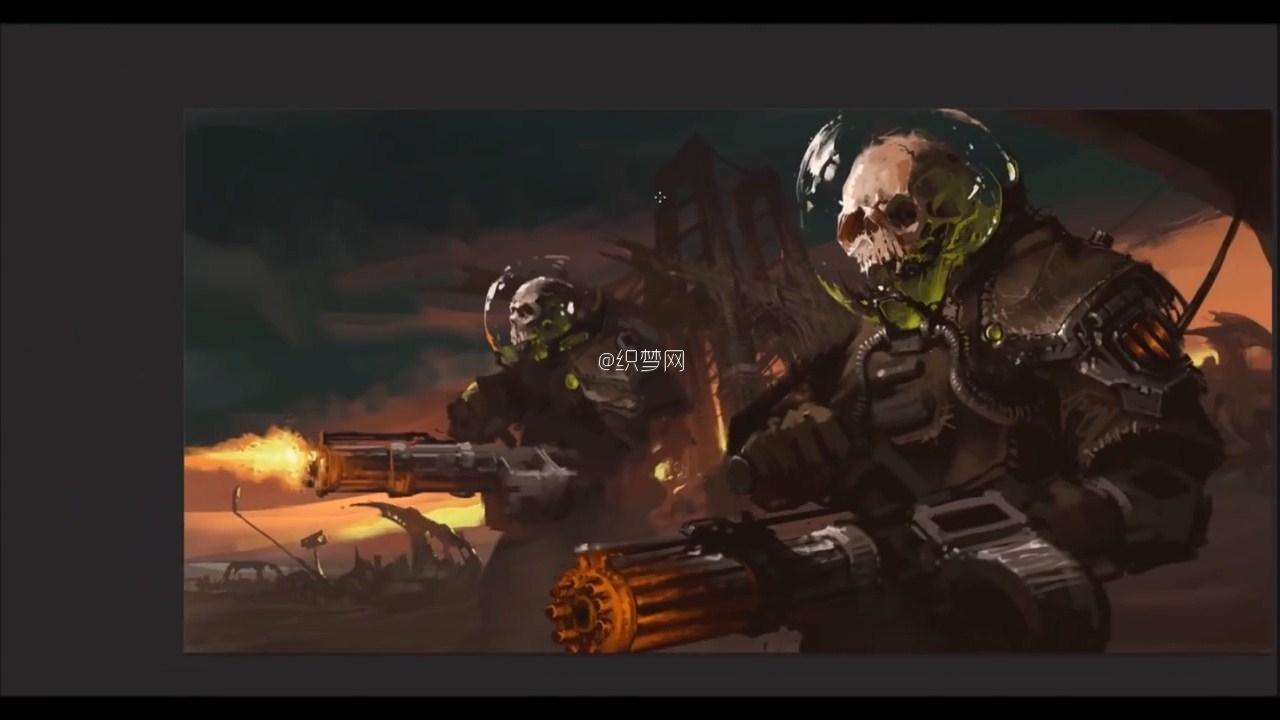 PS数字绘画 世界末日之骷髅士兵