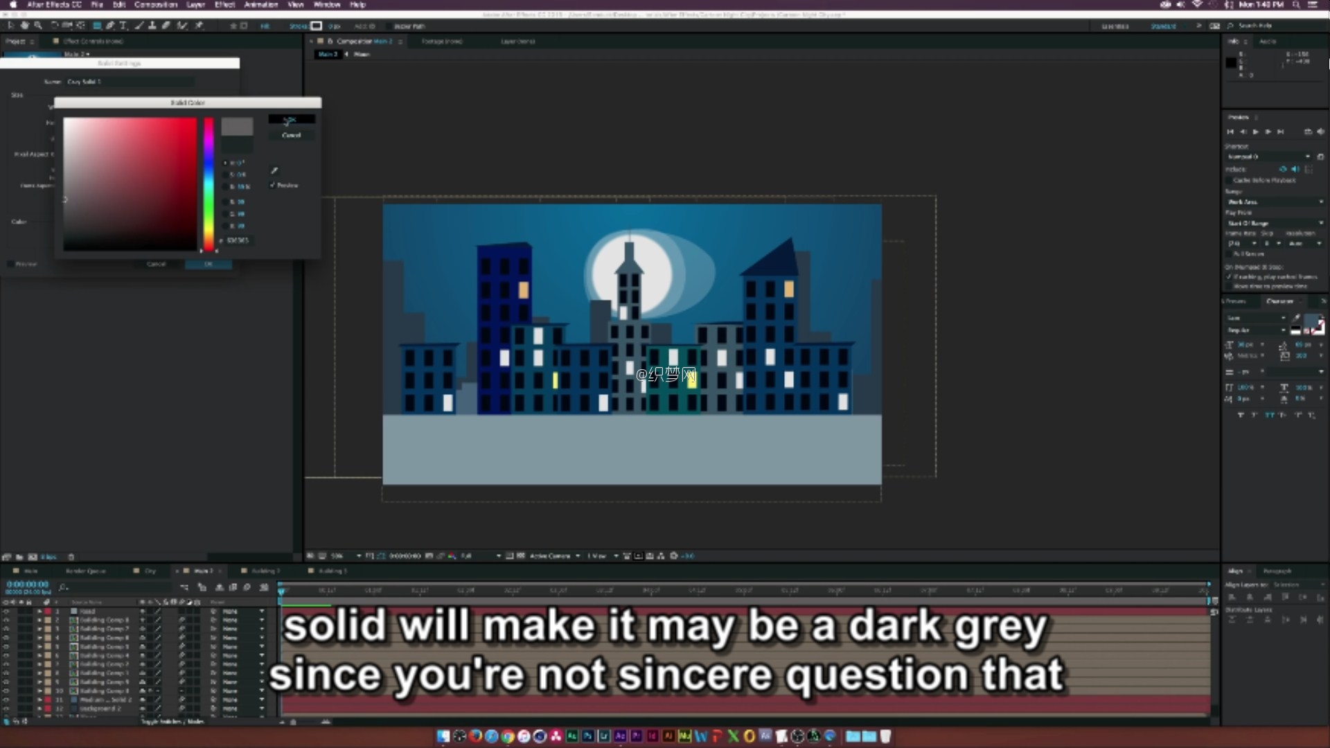 (After Effects Tutorial- Cartoon Animation Night City.mp4)[00.17.16.300].jpg