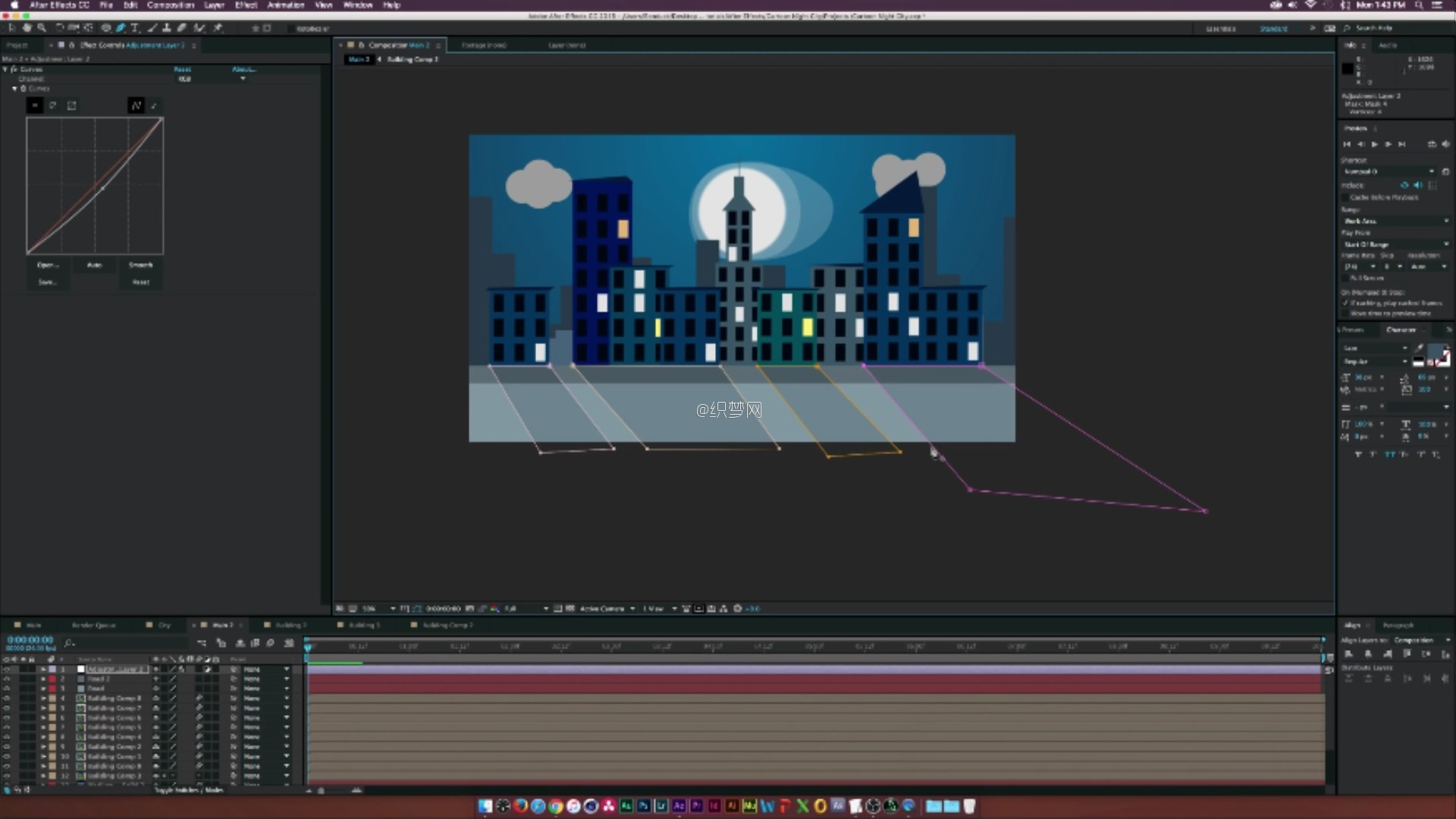 (After Effects Tutorial- Cartoon Animation Night City.mp4)[00.20.23.566].jpg