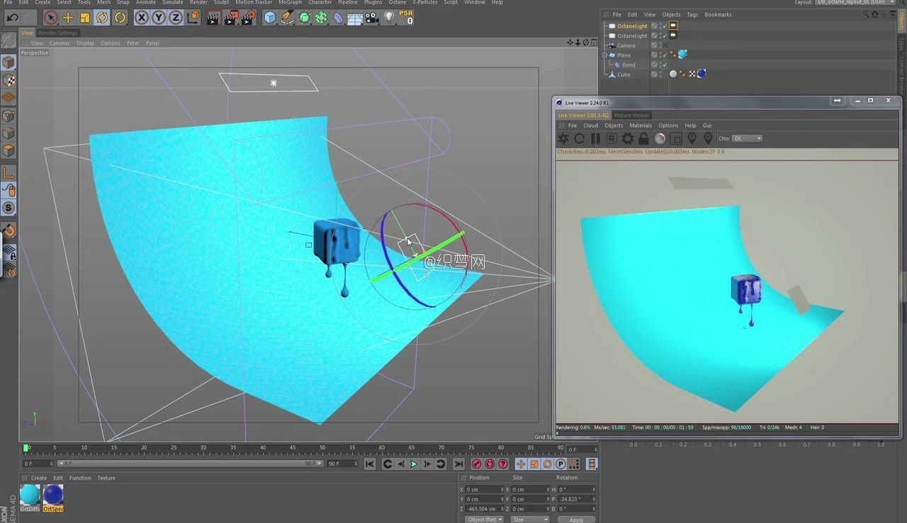 C4D���������ڻ�Ч��̳� - Create Melting Objects in Cinema 4D