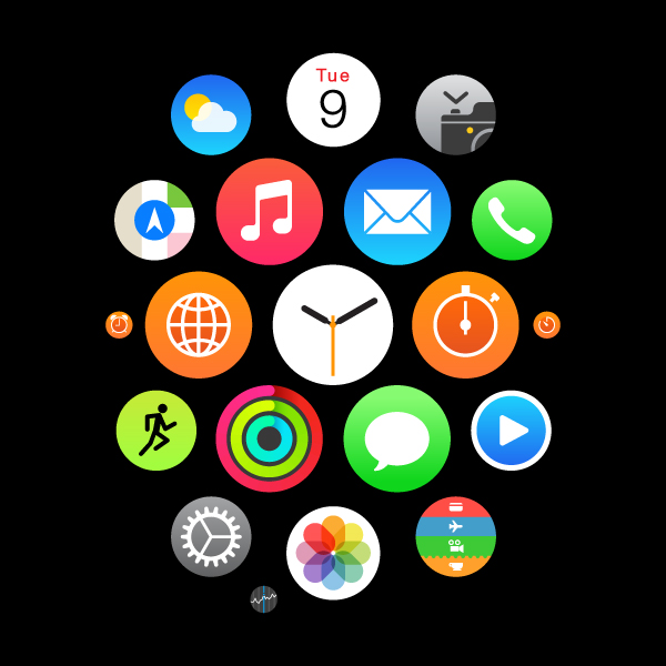 在Adobe Illustrator中设计一整套Apple Watch ICON图标