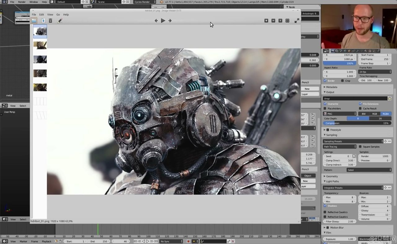 科幻盔甲制作教程 - Making of Sci-Fi Armor in Blender