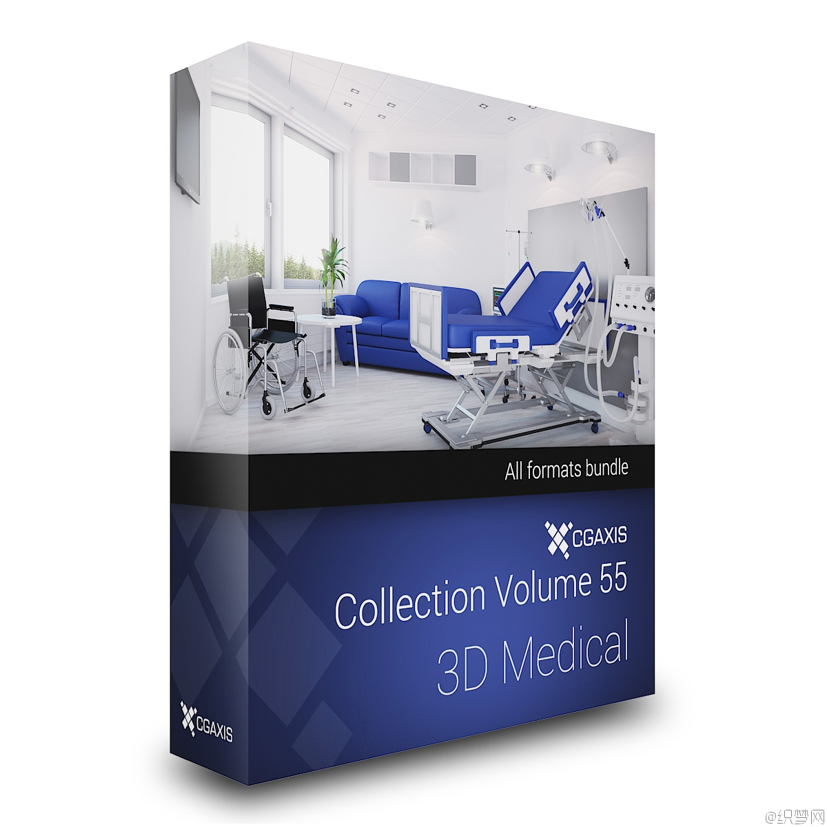 现代医疗设备3D模型库 - 3D Medical - CGAxis Models Volume 55