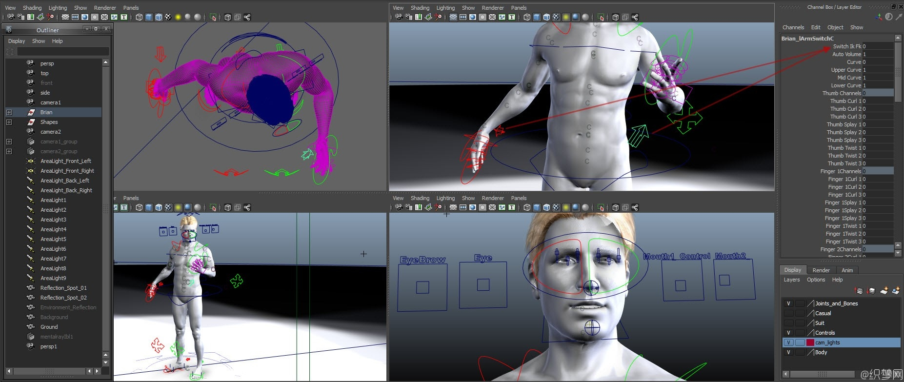 成年男性角色3D模型 - Adult Males Animated - NoneCG