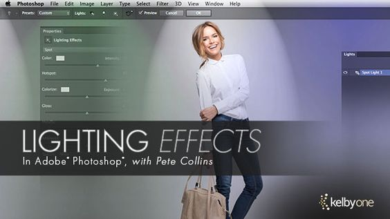 PS深度教程 PS灯光特效教程 - Photoshop In-Depth: Lighting Effects - KelbyOne