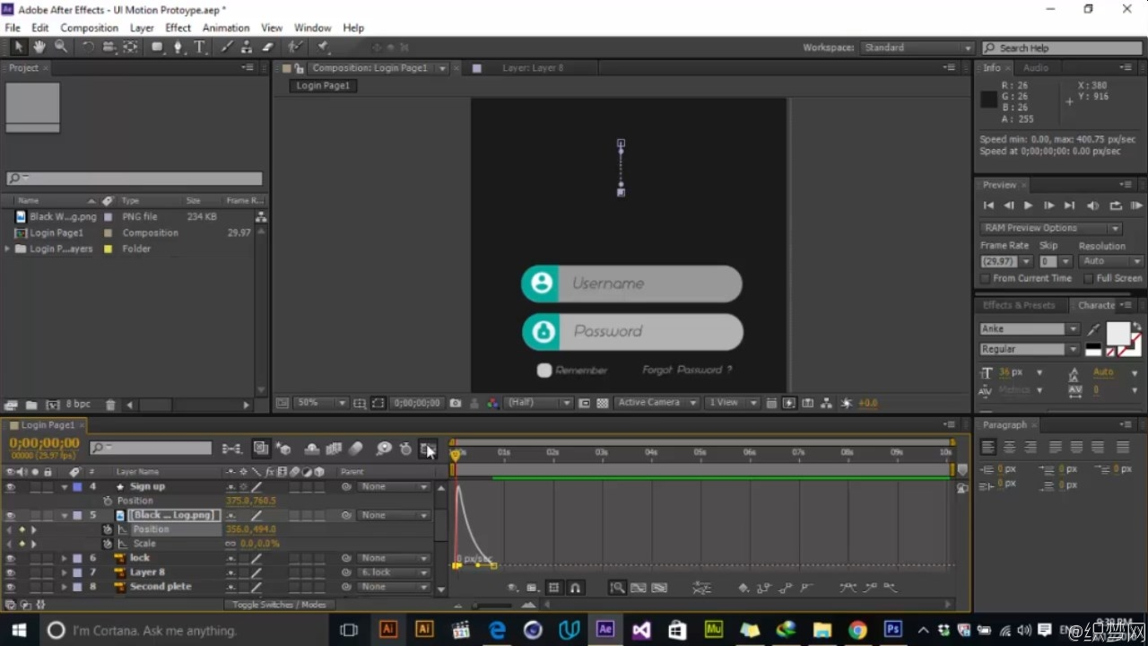 AE����UI��Ч��Ƶ�̳� - UI Motion | Prototype in Adobe After Effects