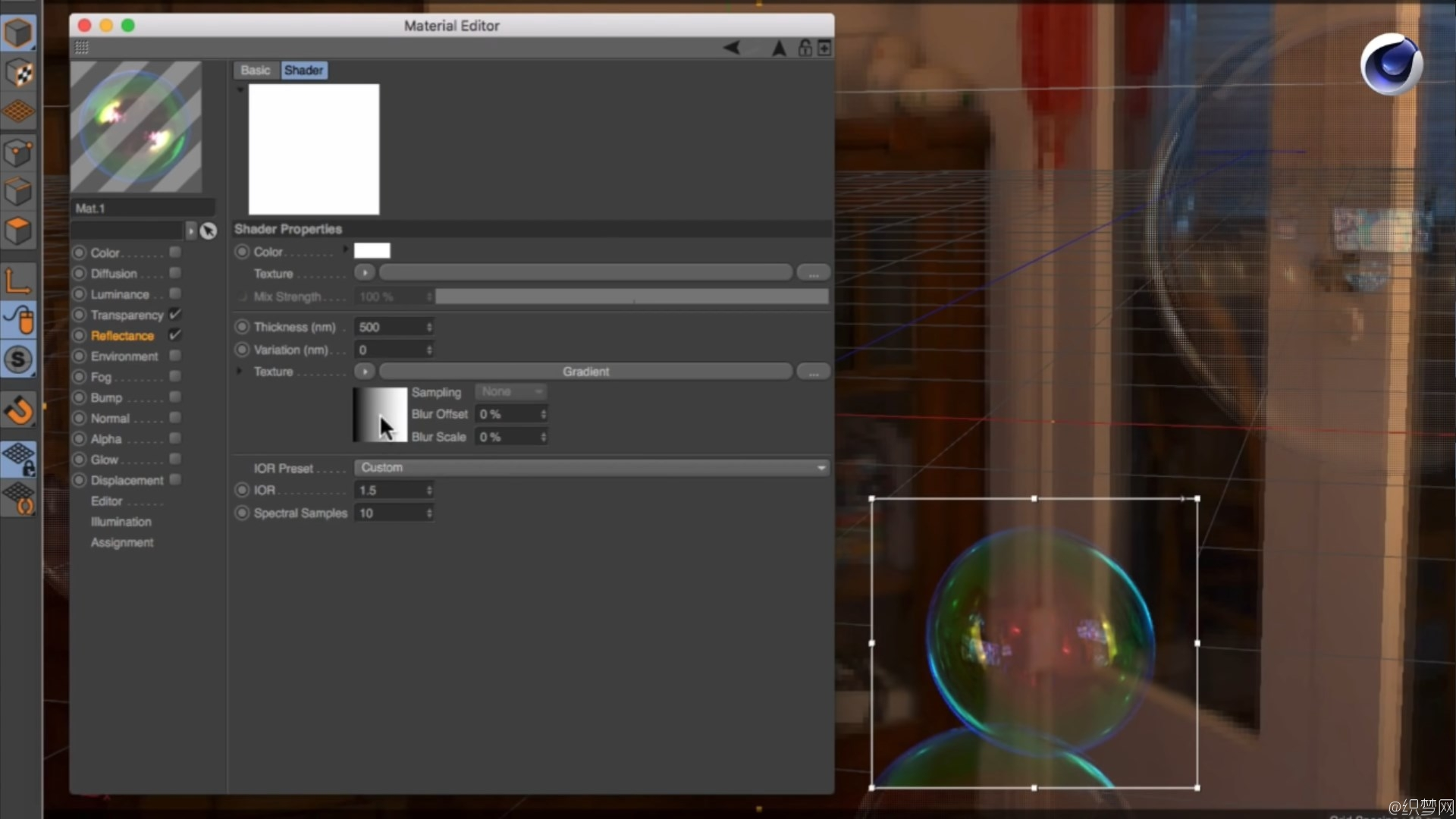 C4D制作肥皂泡视频教程 - How to Create Soap Bubbles in Cinema 4D