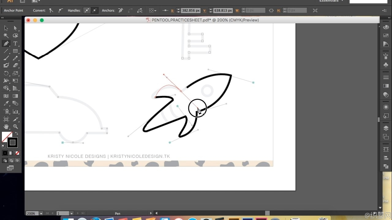 illustrator钢笔工具使用技巧视频教程 - Mastering the Pen Tool in illustrator