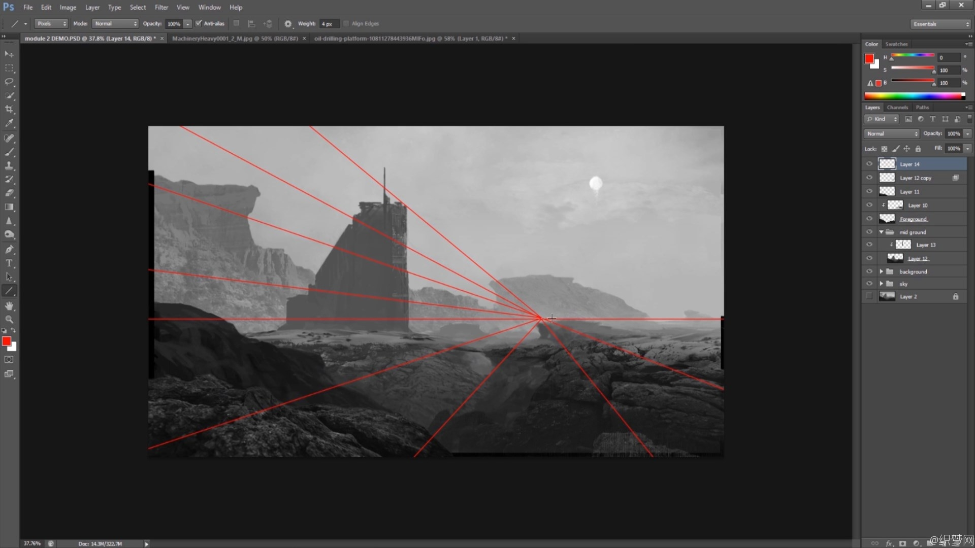 ��ά�����廭�滭�̳� - Matte Painting in Photoshop Vol 2 - 3DMotive