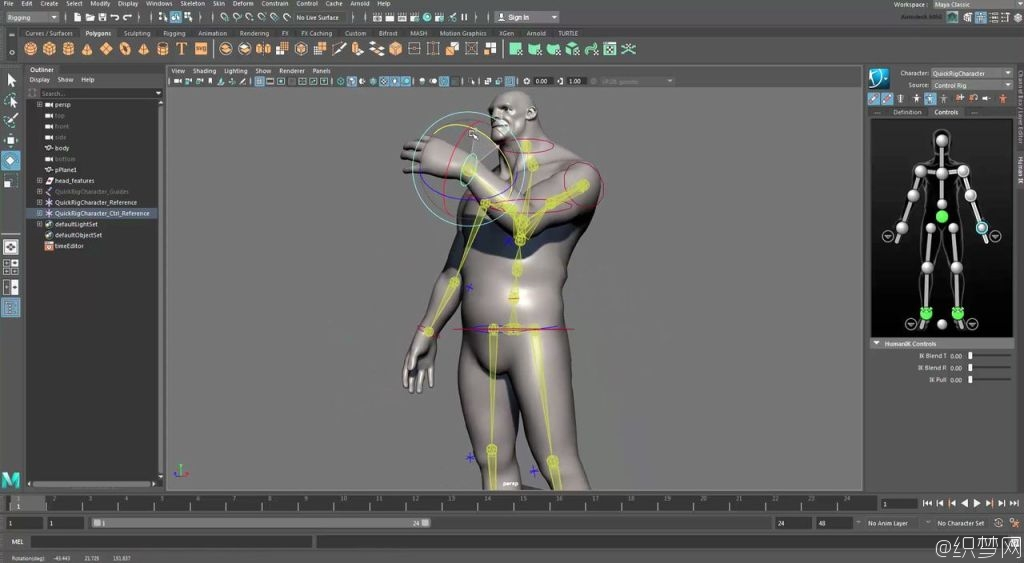 Maya 2017快速角色绑定和蒙皮视频教程 - Quick Rigging and Skinning a Character