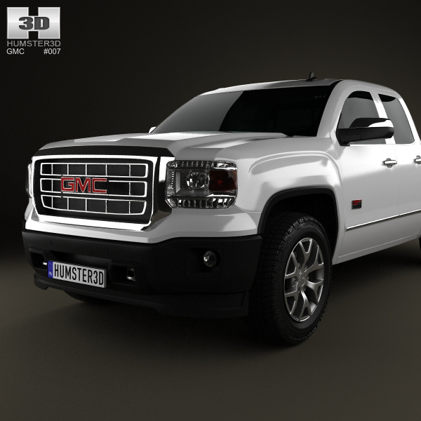 越野车3d模型下载 - GMC Sierra Crew Cab 2013 3D Model