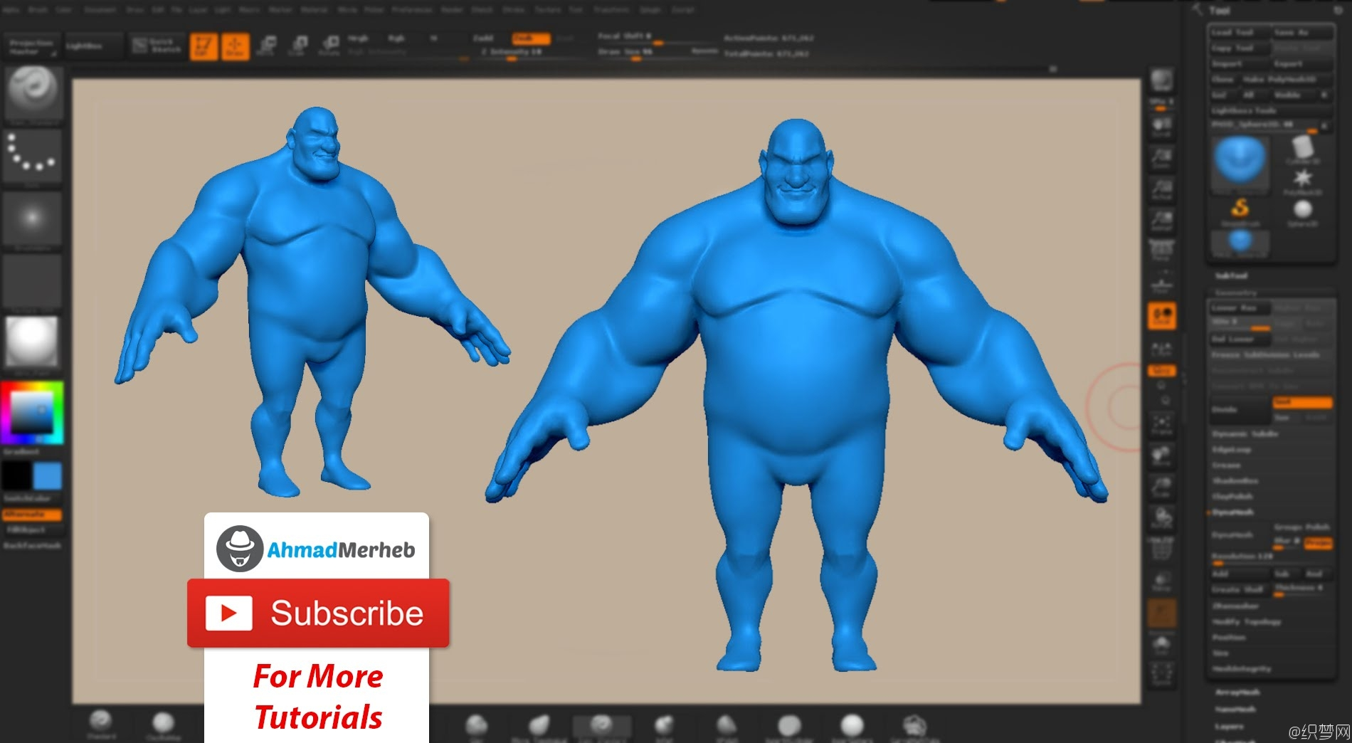 ZBrush雕刻角色模型视频教程 - Character Creation with ZBrush