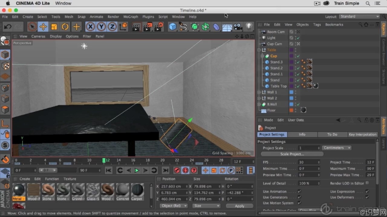 运动图形动画制作教程 - After Effects CC with Cinema 4D Lite - Train Simple