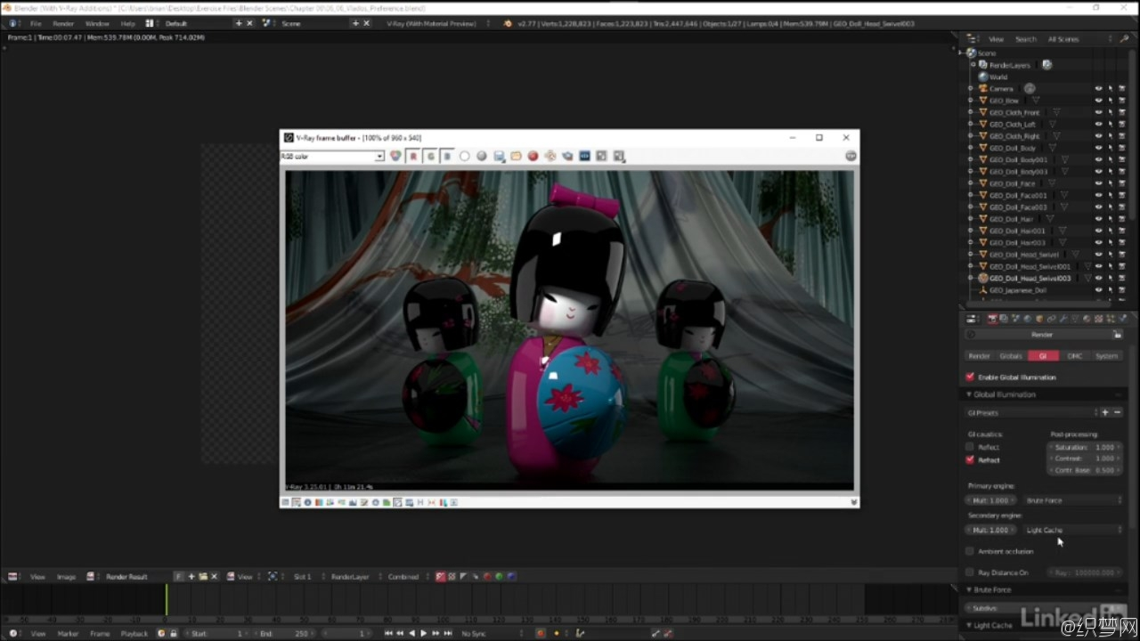 渲染神器V-Ray 3.0全面学习视频教程 - Blender: V-Ray 3.0 Basics