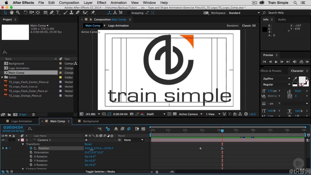 After Effects CC动态图形动画视频教程 - Shape and Type Animation Undo