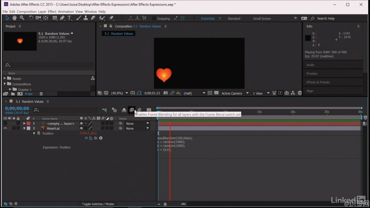 After Effects大师班表达式应用视频教程 - After Effects Guru: Expressions
