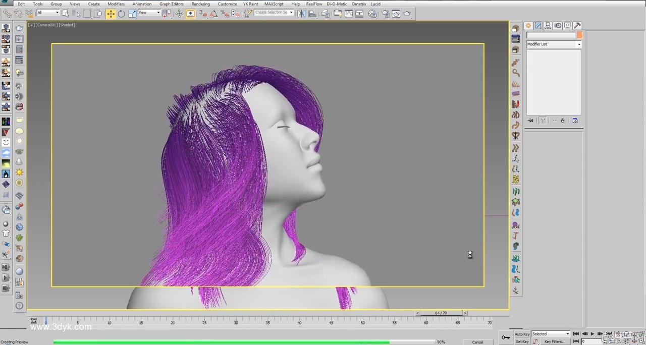 3ds max制作头发动画视频教程 - 3ds max Animation Hair Tutorial