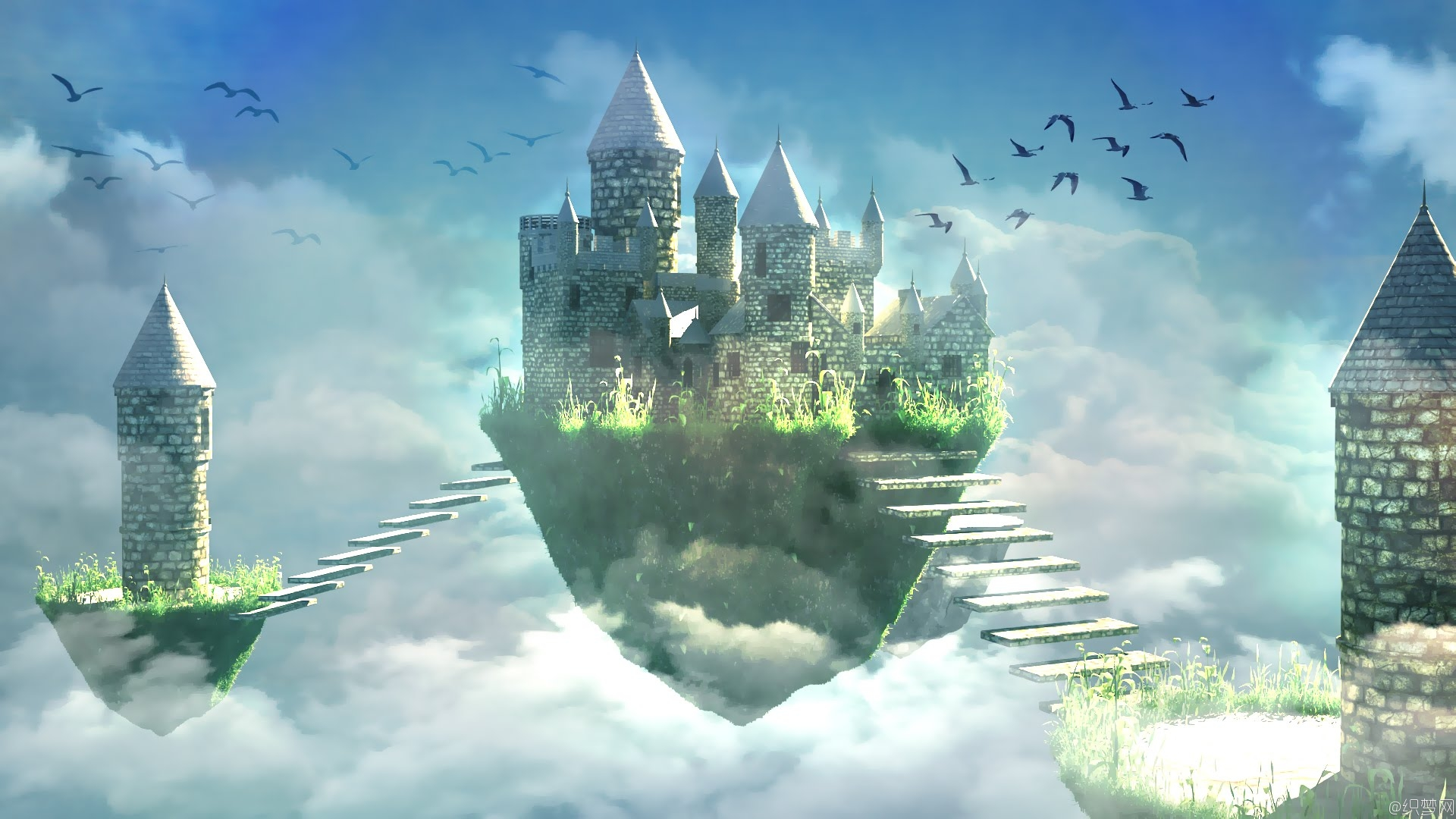 3ds max制作科幻城堡场景视频教程 - Making of fantasy castle 3ds max tutorial