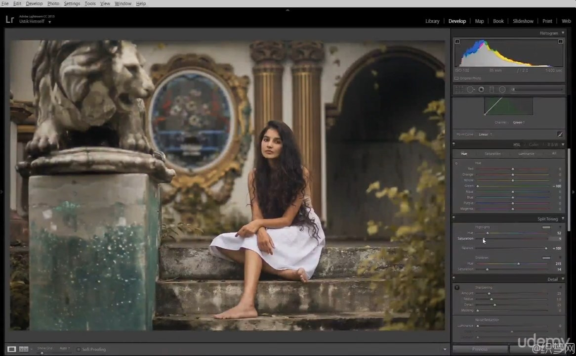Lightroom CC:专业肖像修饰视频教程 - Professional Portrait Retouching