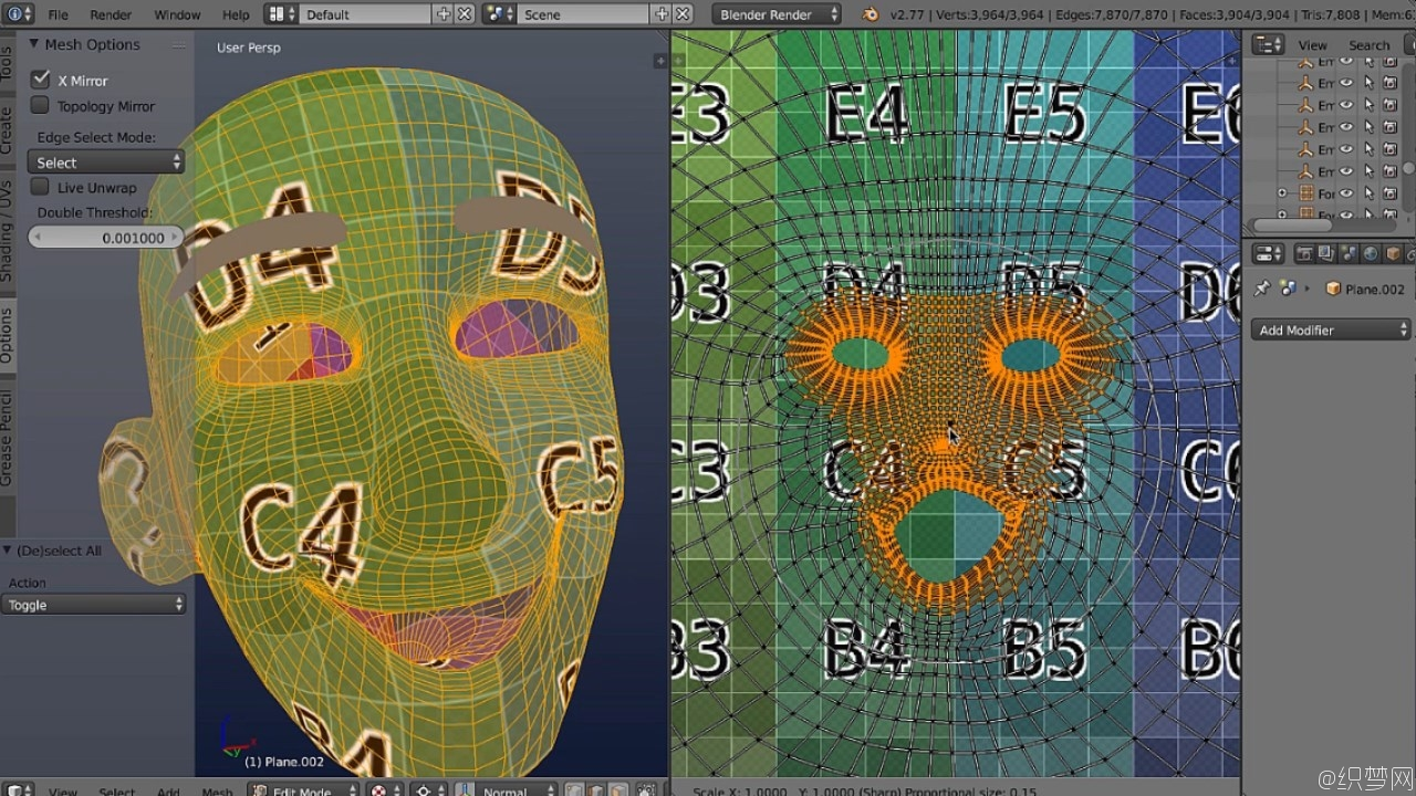 Blender展UV技术视频教程 - UV Mapping in Blender Volume 2 - 3DMotive