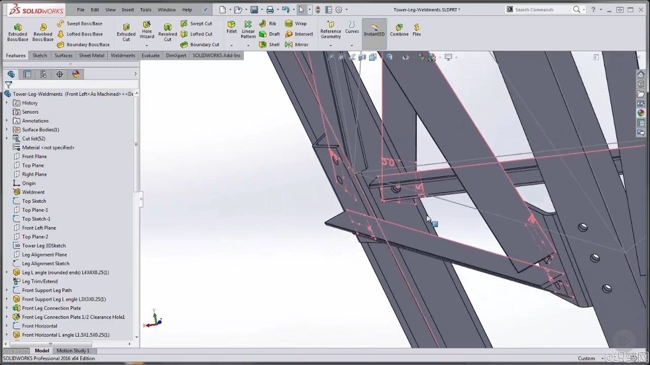 SOLIDWORKS配件焊接技术视频教程 – SOLIDWORKS: Weldments in Assemblies