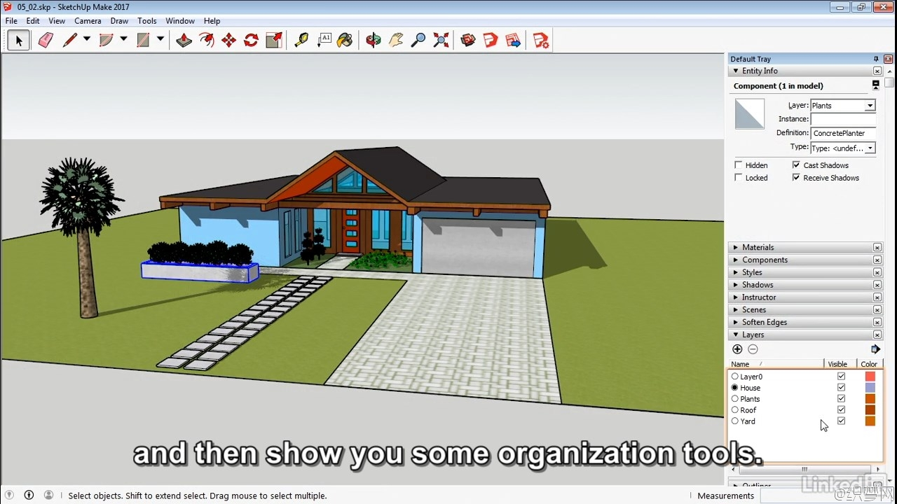 SketchUp 2017基础学习视频教程 - SketchUp 2017 Essential Training 3