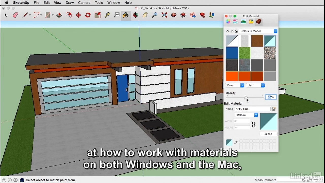 SketchUp 2017基础学习视频教程 - SketchUp 2017 Essential Training 4