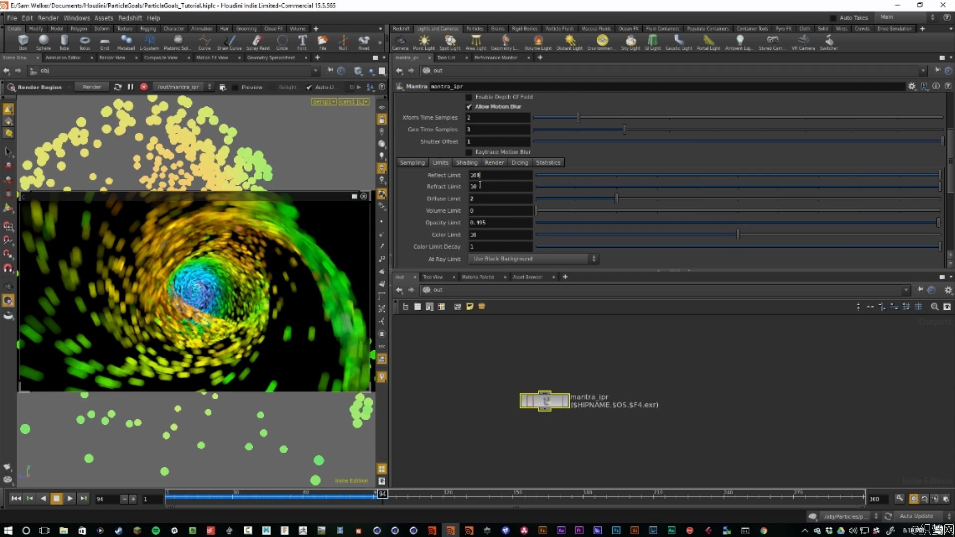 Houdini制作粒子围绕曲线路径动画特效视频教程 - Creating Particle Goals and Curves in Houdini