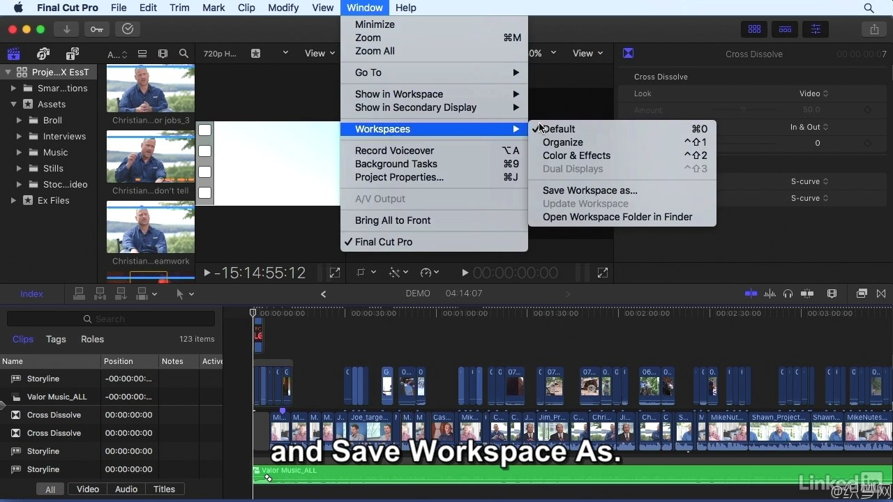 Final Cut Pro X 10.3全面学习视频教程 - Final Cut Pro X 10.3 Essential Training - Lynda