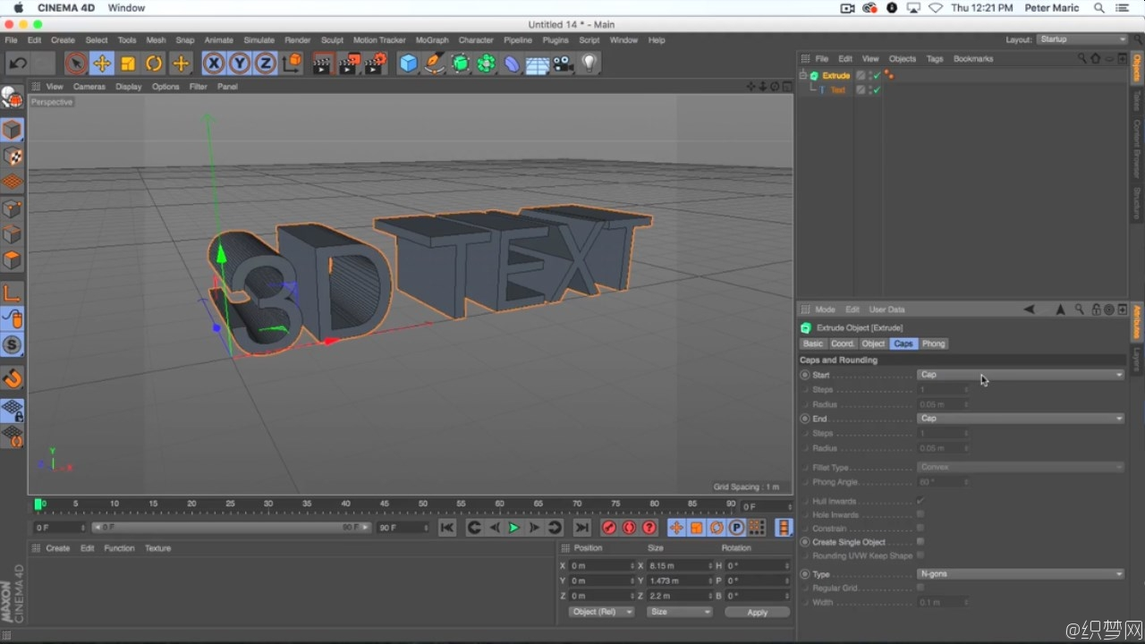 在Cinema 4D制作3D文字动画视频教程 - Animating 3D Text in Cinema 4D 2