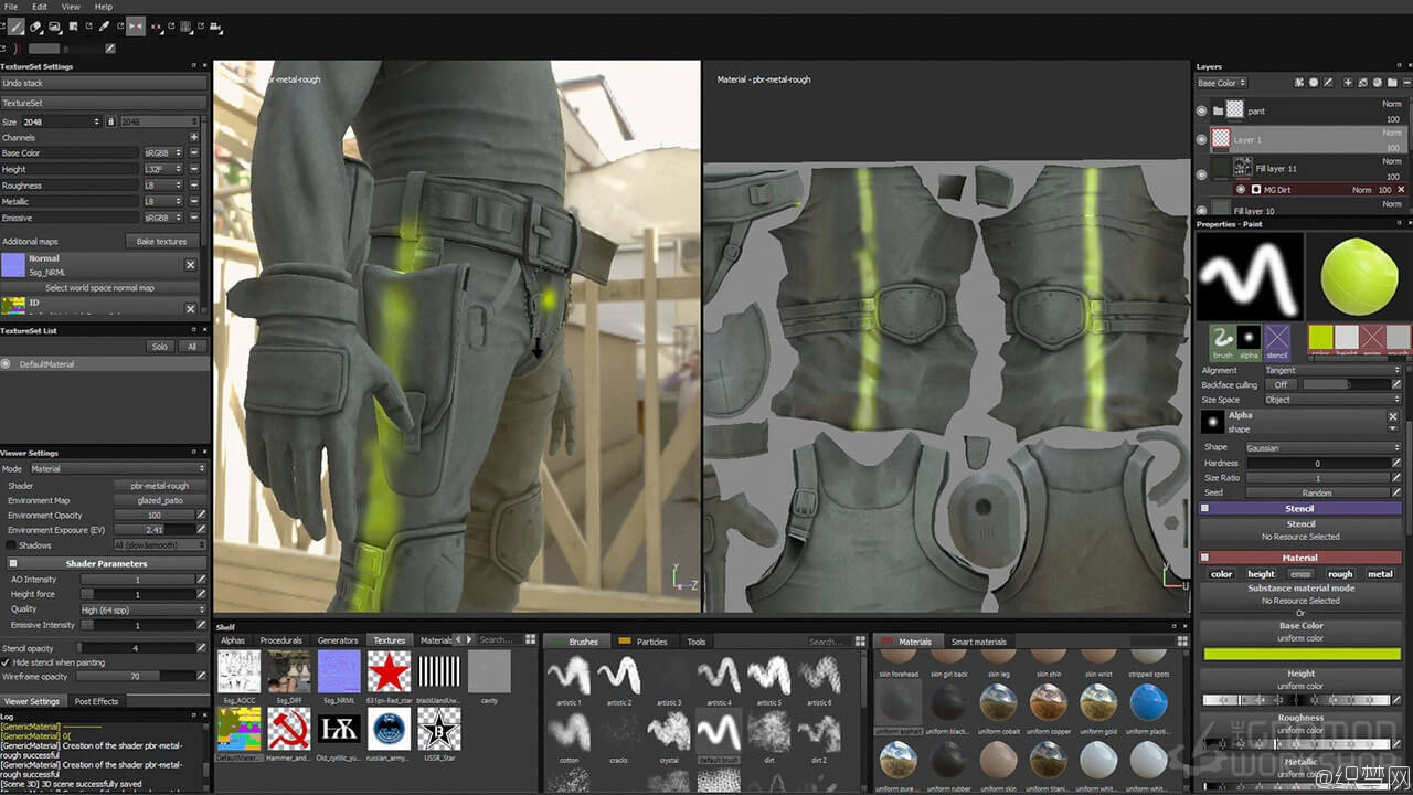 全面学习贴图绘制神器Substance Painter视频教程 - Introduction to Substance Painter 6