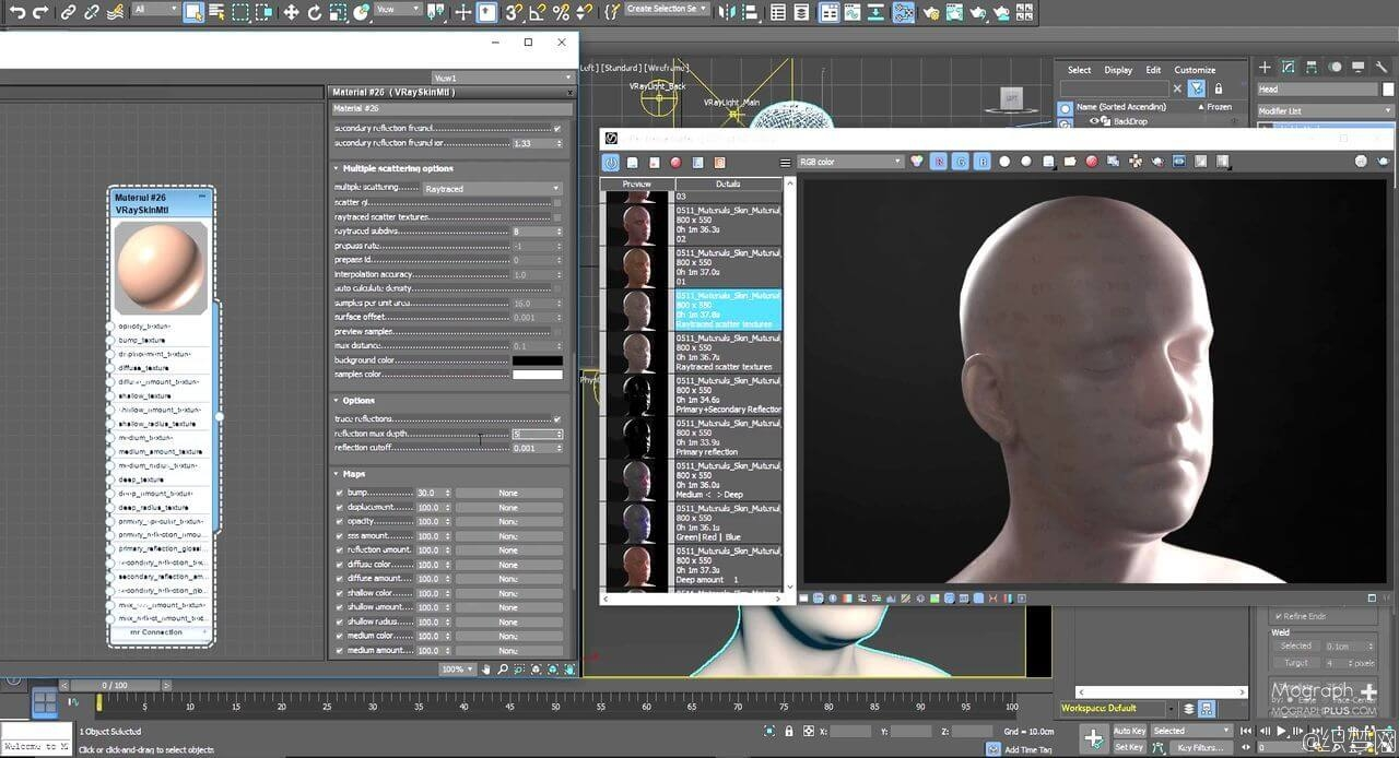 V-Ray真实皮肤材质渲染视频教程 - Understanding V-Ray Skin Material and Creating a Realistic Human Ski ...