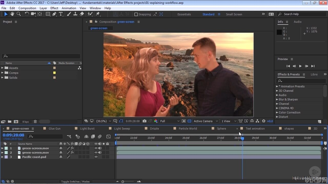 After Effects CC入门视频教程 - After Effects CC Fundamentals - Pluralsight