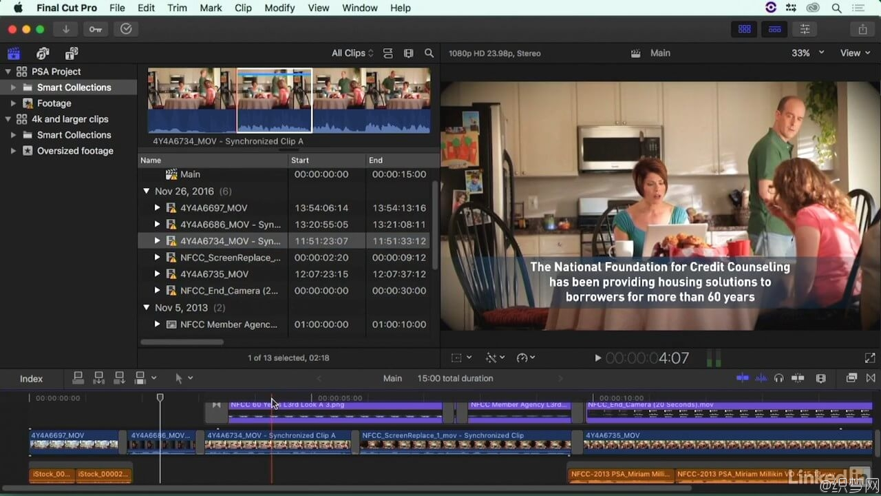 Final Cut Pro X大师班 - 线上线下工作流程教程 - Final Cut Pro X Guru: Online Offline Workflows