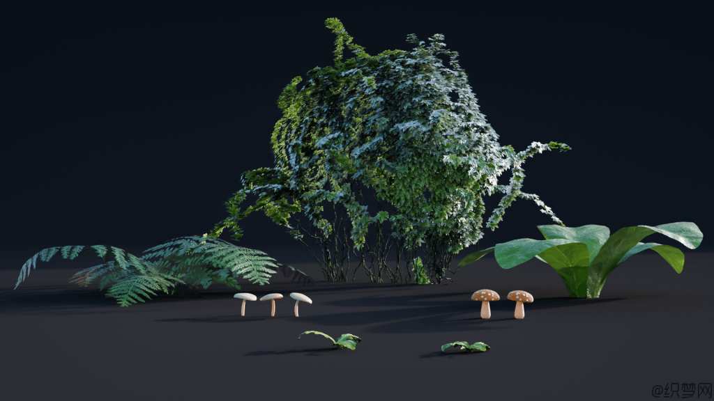 Blender创建植物模型视频教程 - Creating Plants in Blender - CGCookie