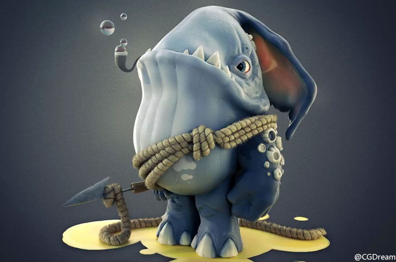 概念生物角色3D模型制作教程 - Creature Modeling in Blender