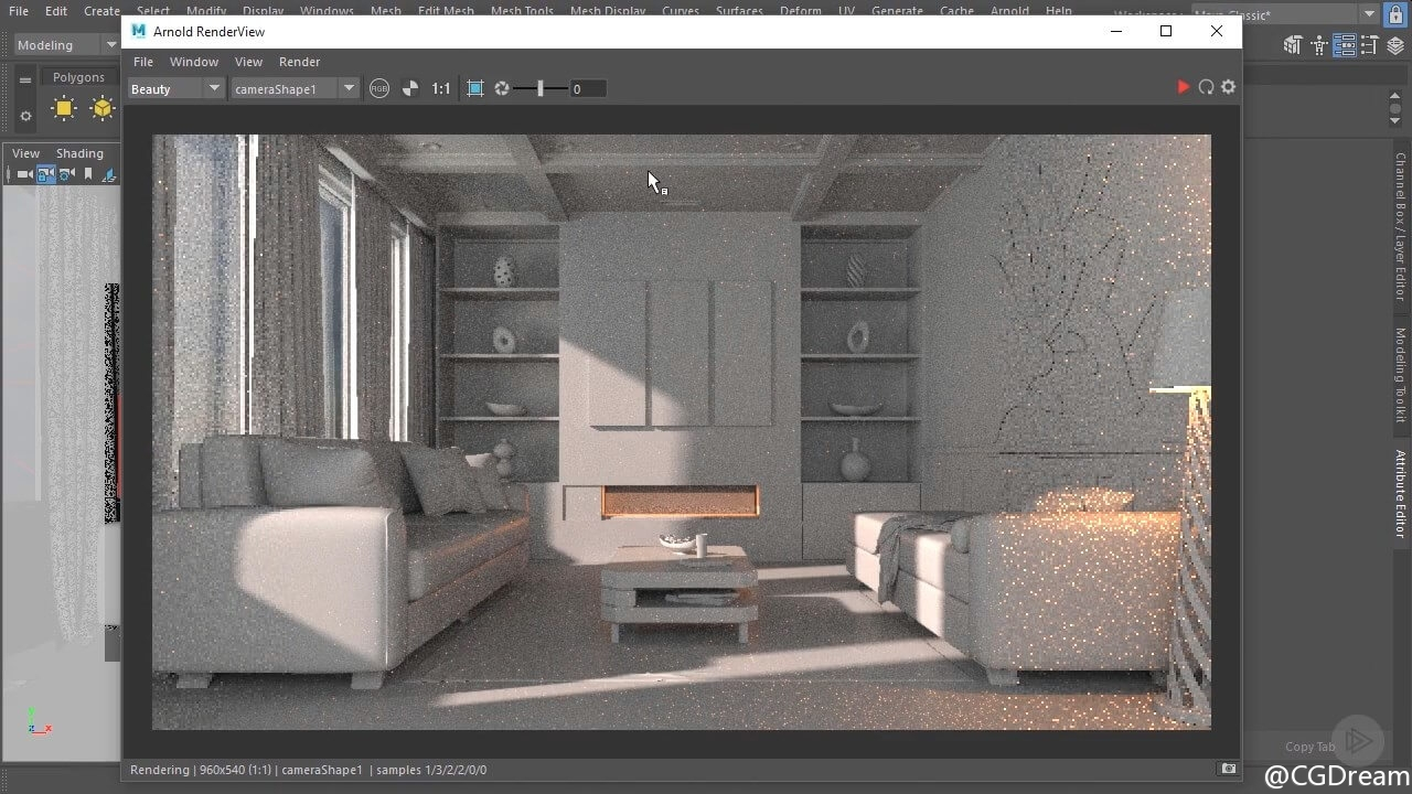 Arnold渲染逼真室内效果图视频教程 - Interior Rendering Strategies with Arnold and Maya