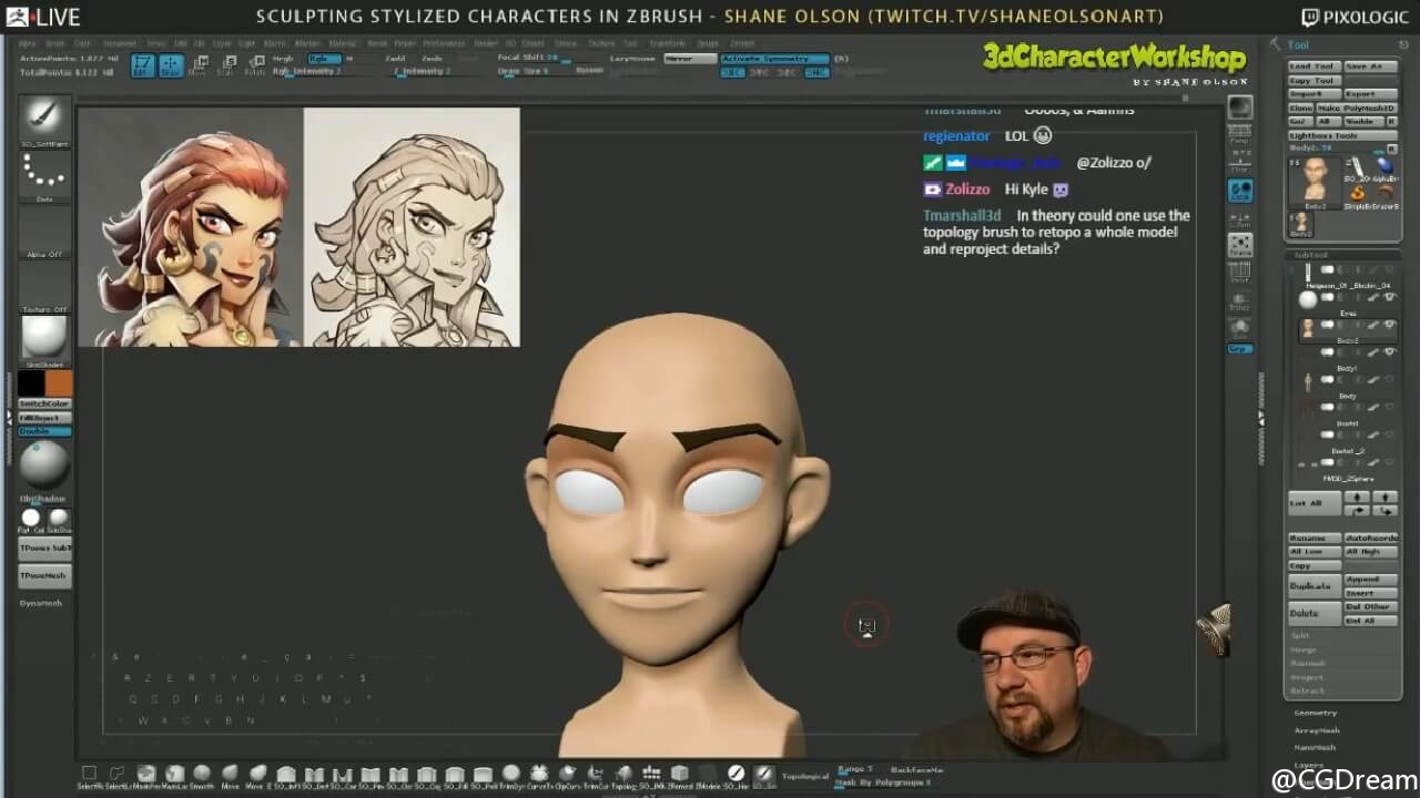 ZBrush雕刻风格化角色模型教程第四节 - Sculpting Stylized Characters - Episode 4