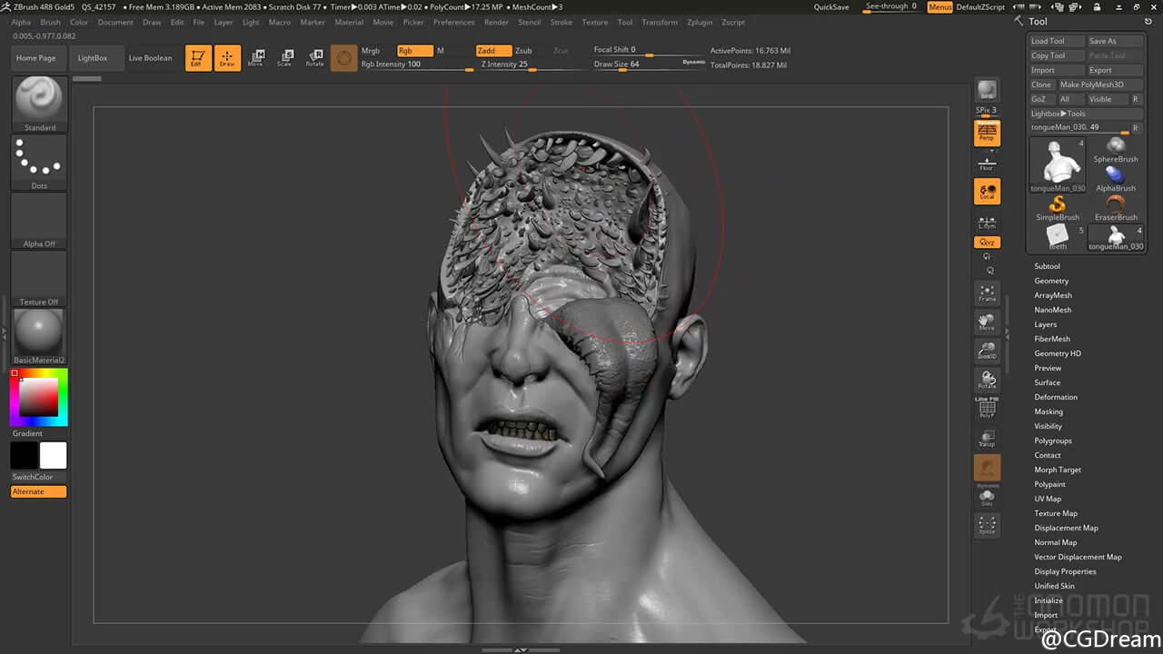 ZBrush 4R8全面学习视频教程 - Introduction to ZBrush 4R8 - The Gnomon Workshop