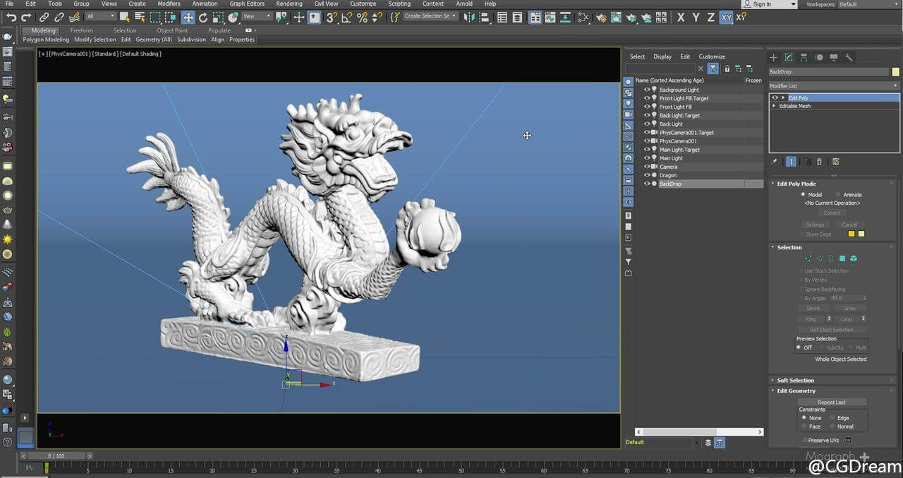 "Arnold玉石材质渲染技术教程 - Creating""The Dragon Shader""in Arnold for 3ds Max"