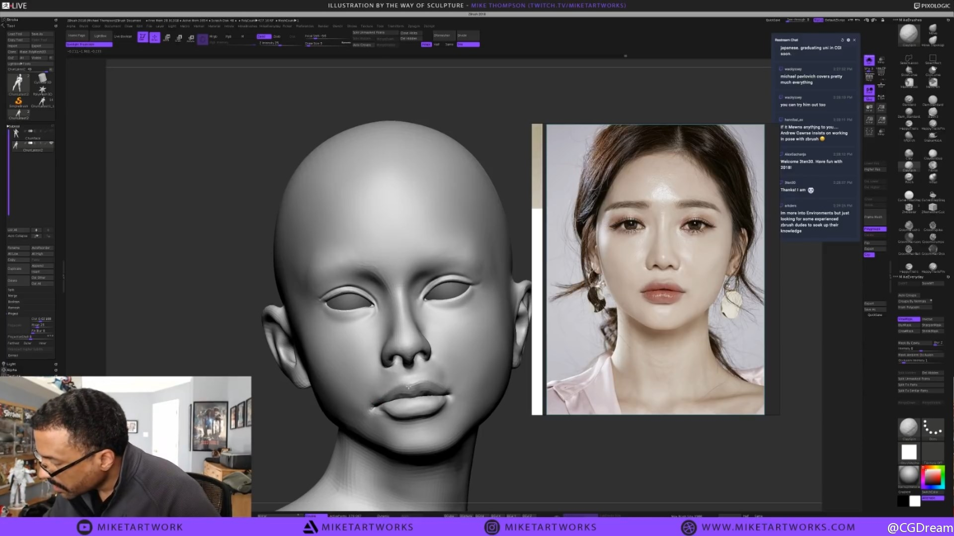 ZBrush雕刻《街头霸王》春丽3D模型视频教程 - Illustration by the Way of Sculpture