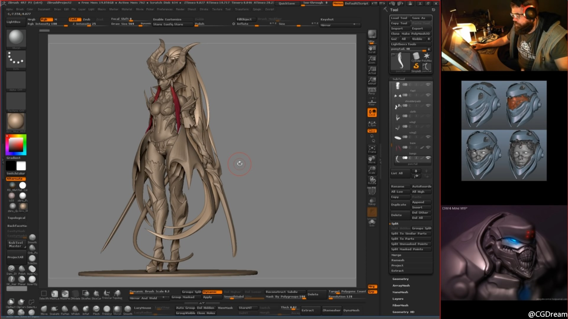 ZBrush雕刻女性角色《Lucilla》模型教程 - Making of character Lucilla