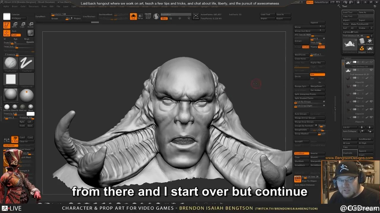 ZBrush雕刻游戏角色和道具模型教程 - Character & Prop Art for Video Games