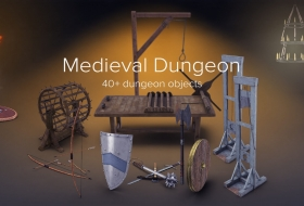 中世纪地牢刑具素材集合 - PixelSquid - Medieval Dungeon Collection