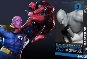 灭霸VS死侍第03卷 - Thanos vs Deadpool in ZBrush - VOL.3. Anatomy of Deadpool