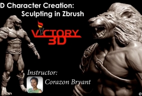 ZBrush三维概念角色模型雕刻教程 - 3D Character Creation Sculpting in ZBrush